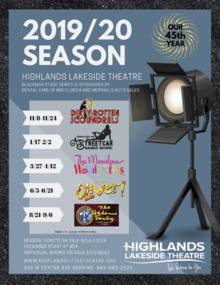 Highlands Lakeside Theatre Show Lineup