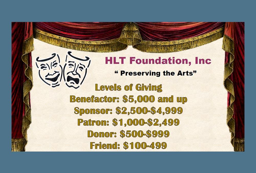 HLT foundation Inc levels of giving